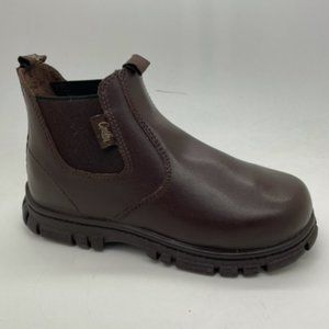 Kids Shoes Grosby Ranch Brown Leather Pull On Boots